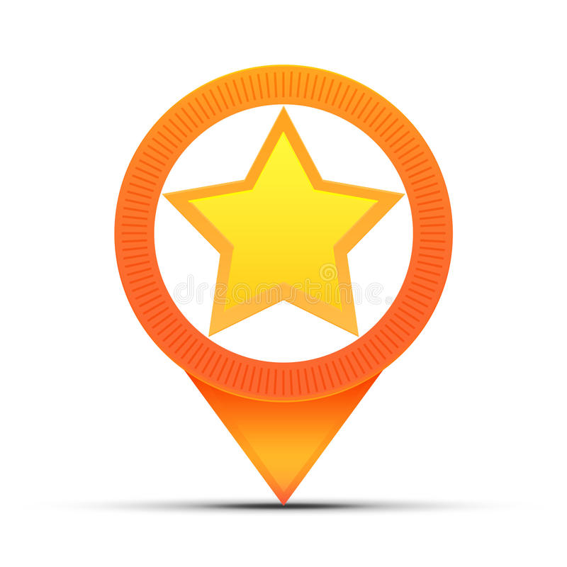 Download Star Location Map Pin Royalty Free Stock Photos - Image: 23592708