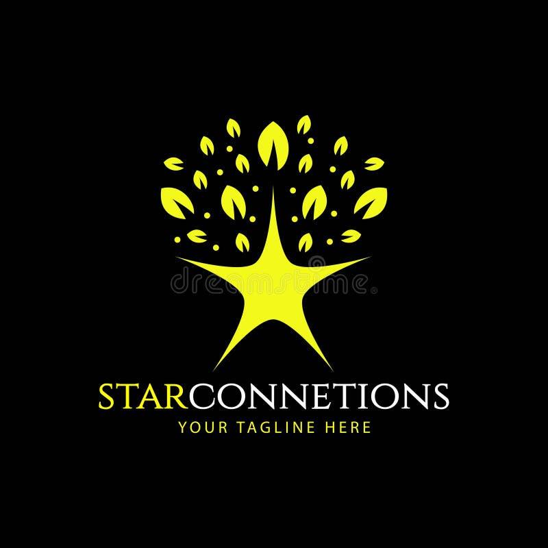 Star Connection Logo Vector Template Design Illustration. Star logo abstract vector technology icon connect polygonal design connection business concept tick vector illustration