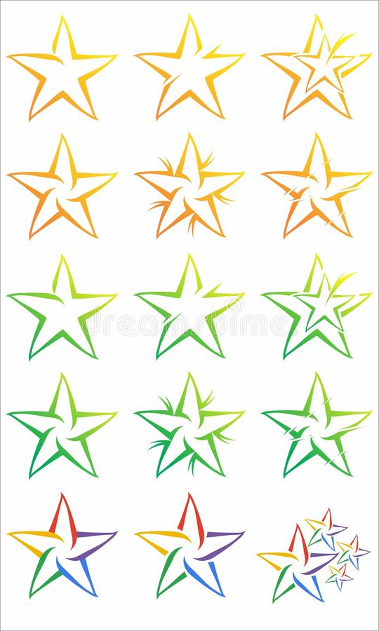 Star Logo Vector royalty free stock image