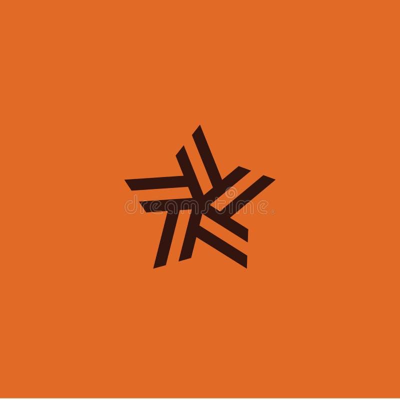 Star logo element vector emblem modern design royalty free illustration