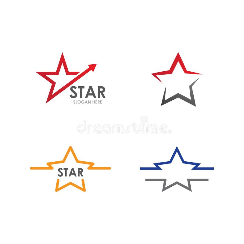 Star Logo and icon Template. Vector illustration design, air, arrow, brand, branding, business, clean, company, concept, connection, corporate, elegant, element stock illustration
