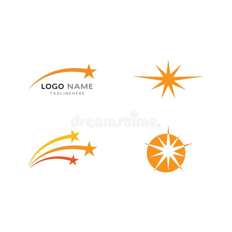 Star Logo and icon Template. Vector illustration design, air, arrow, brand, branding, business, clean, company, concept, connection, corporate, elegant, element royalty free illustration