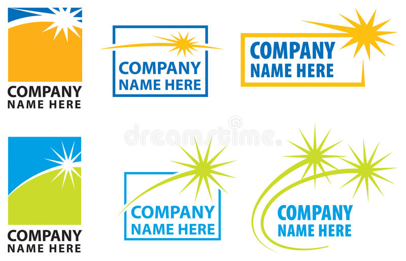 Star Logo Set. A Star Spark Logo Set vector illustration