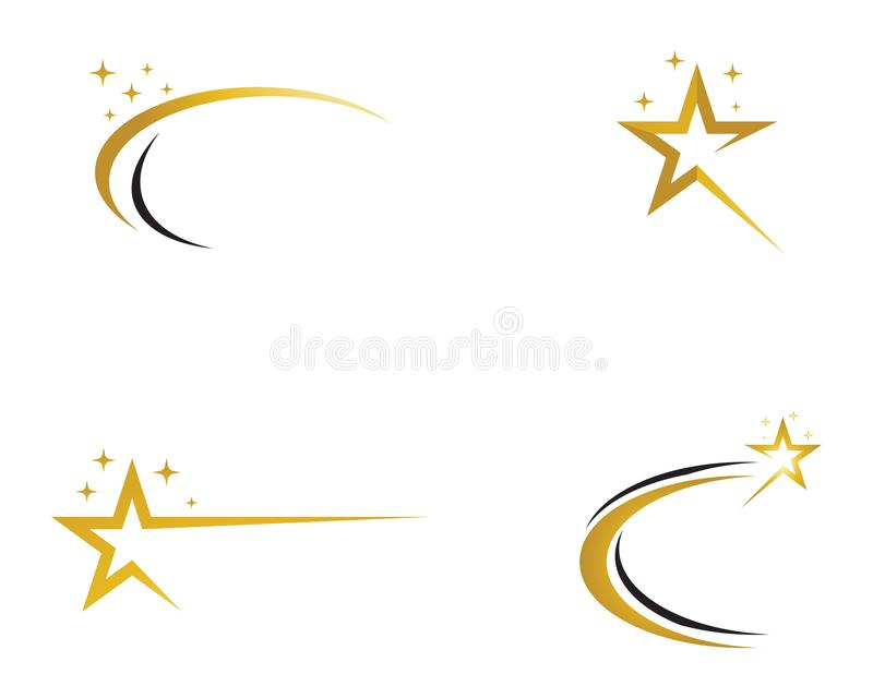 Star logo vector and template icon royalty free illustration