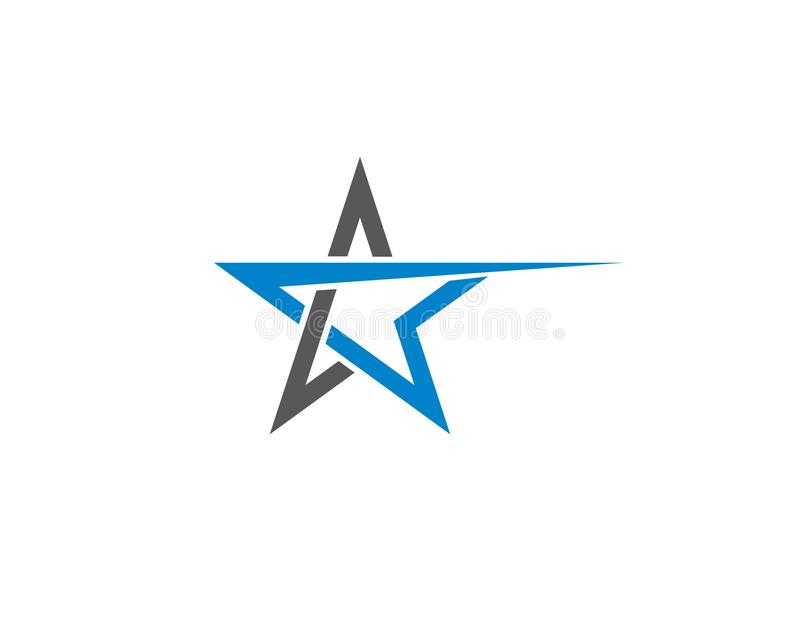 Star logo template illustration design stock illustration