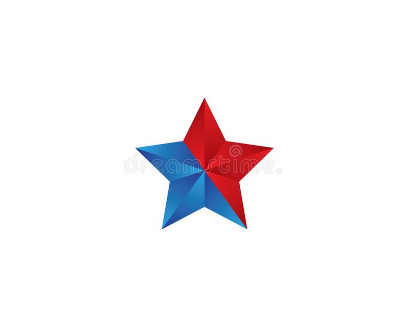 Star logo template illustration design. Star logo template vector icon illustration design, symbol, isolated, golden, stars, element, background, white vector illustration