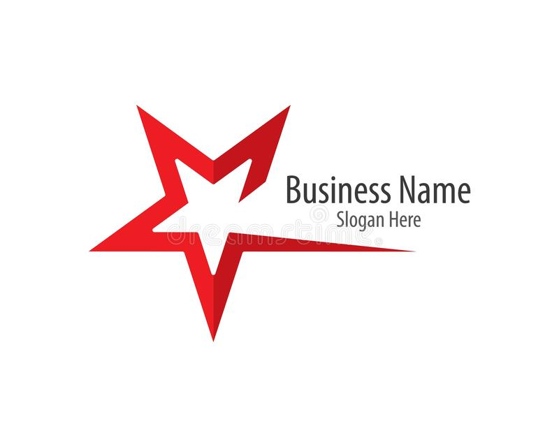 Star logo template illustration royalty free illustration