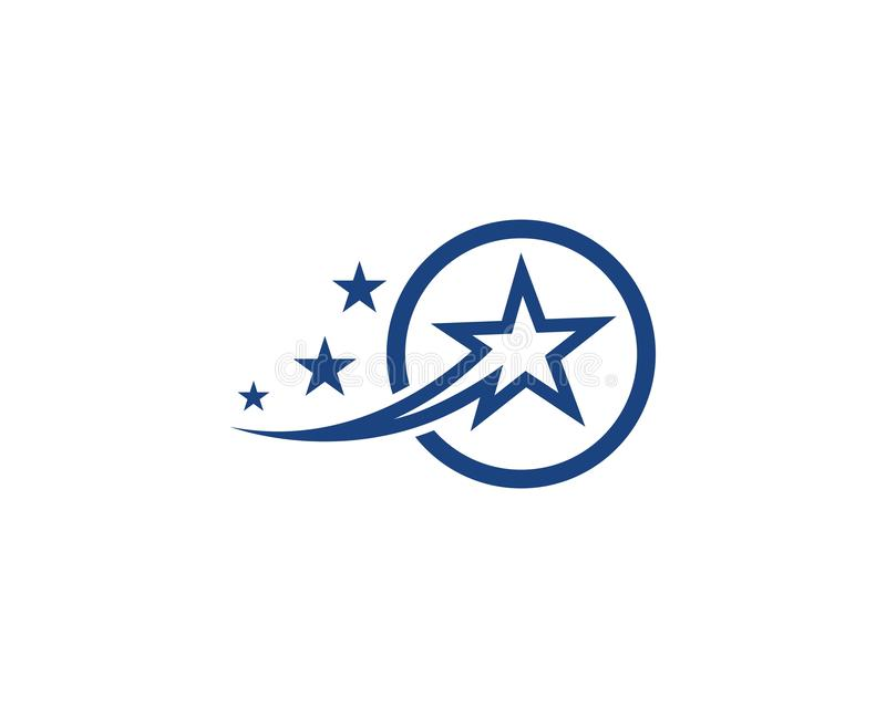 Star Logo Template. Vector royalty free illustration