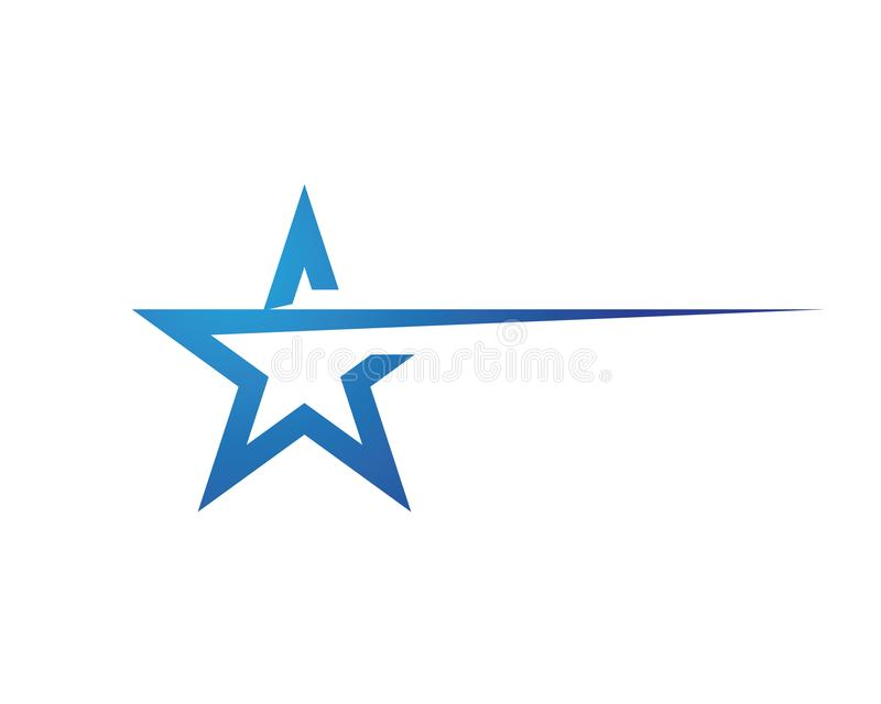 Star Logo Template royalty free illustration