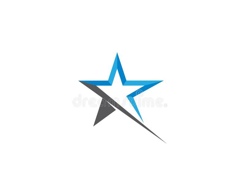 Star logo template royalty free illustration