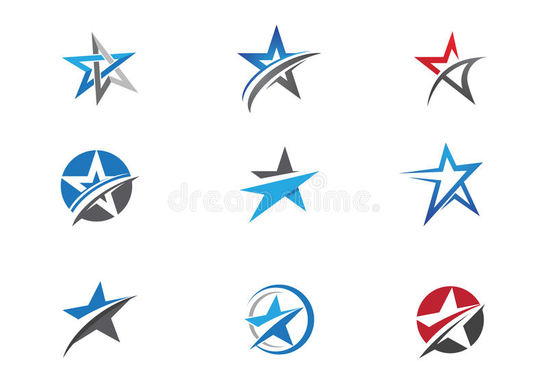 Star Logo template vector icon design stock illustration