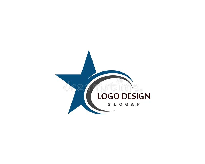 Star Logo Template vector icon illustration design. Concept, shape, modern, identity, element, symbol, business, success, brand, logotype, idea, branding royalty free illustration