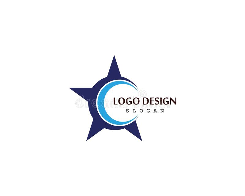 Star Logo Template vector icon illustration design. Concept, shape, modern, identity, element, symbol, business, success, brand, logotype, idea, branding stock illustration