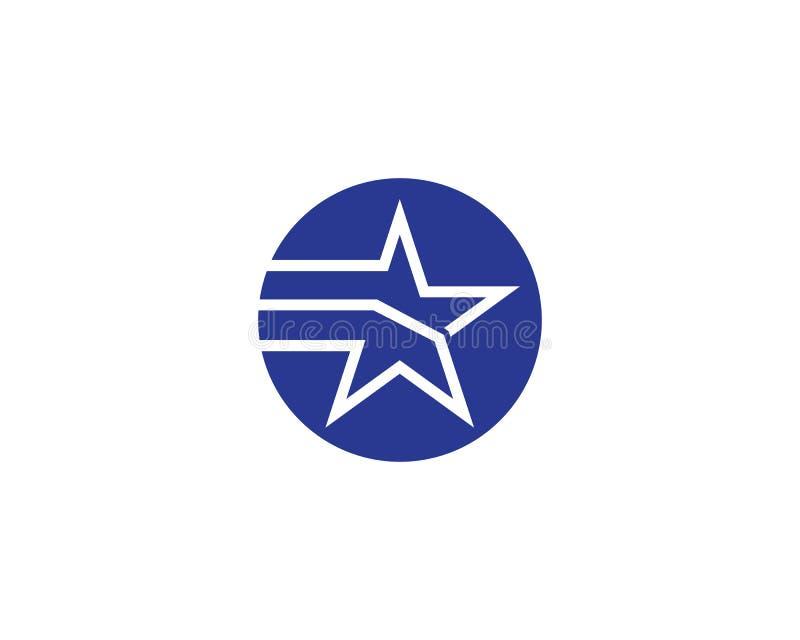 Star Logo Template. Vector icon illustration design royalty free illustration