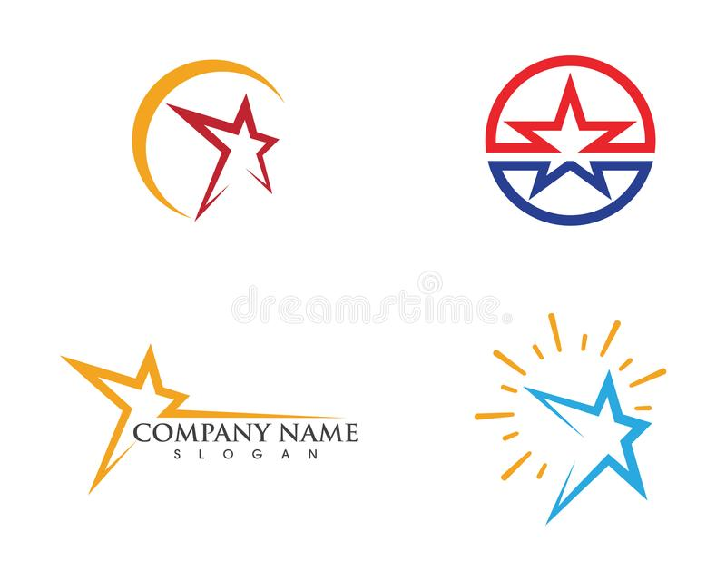 Star Logo Template vector royalty free illustration