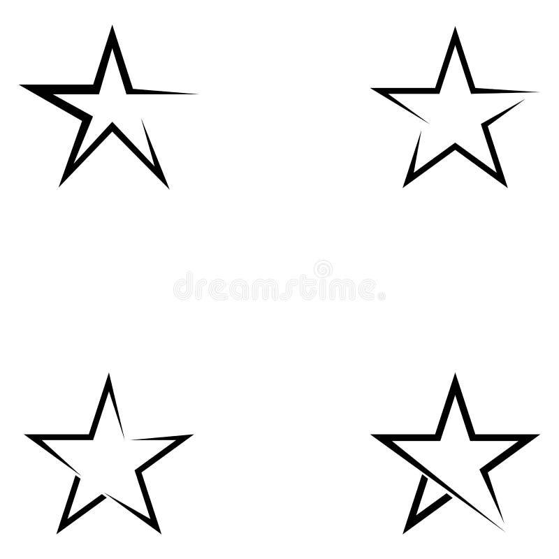 Star logo template vector icon illustration design. royalty free illustration