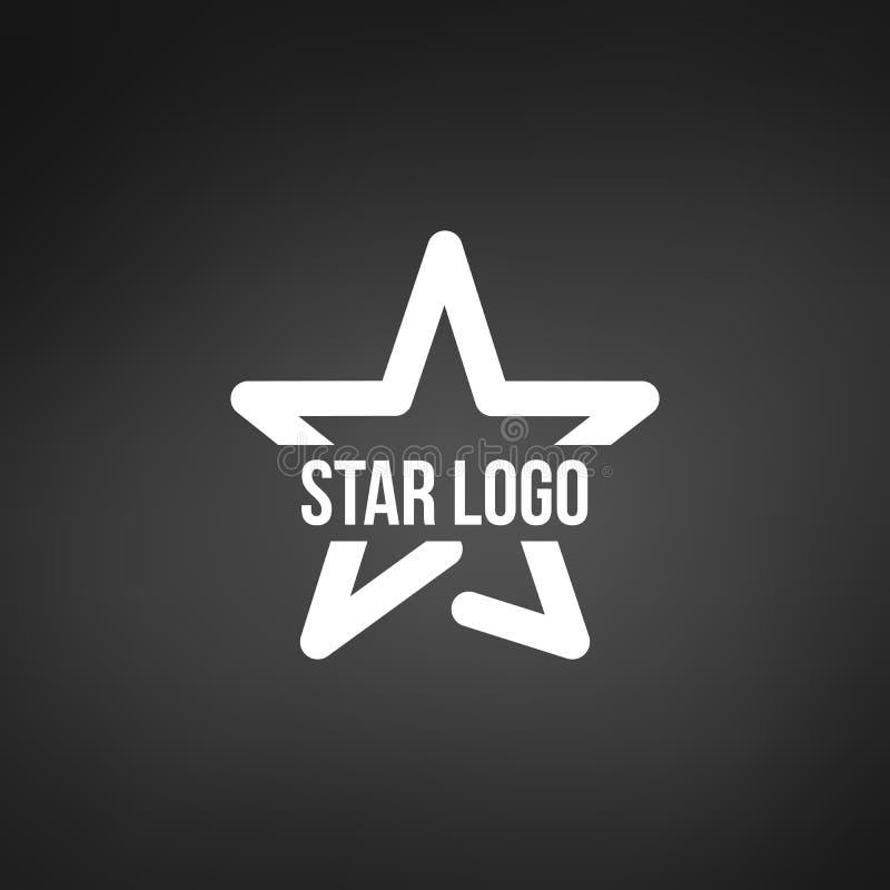 Star Logo Template, vector illustration isolated on black background. Star Logo Template, vector illustration isolated on black stock illustration