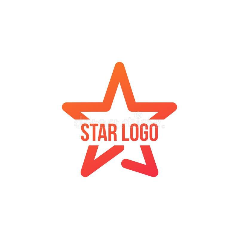 Star Logo Template, vector illustration isolated on white background. Star Logo Template, vector illustration isolated on white royalty free illustration
