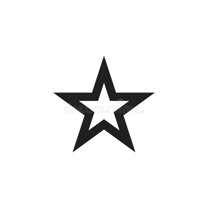 Star Logo Vector Template Design Illustration. Symbol graphic shape icon concept element isolated abstract stars business background style success leader royalty free illustration