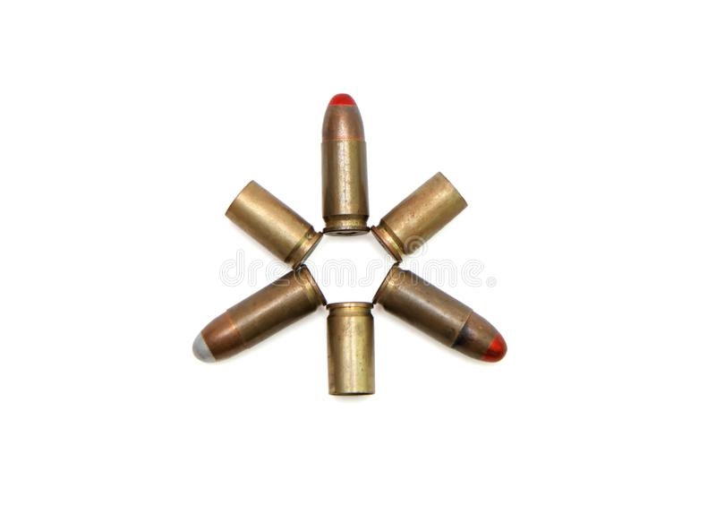 Download Star Made Of 9mm Cartridges And Cases Isolated Stock Photo - Image of cartridge, shiny: 10165876