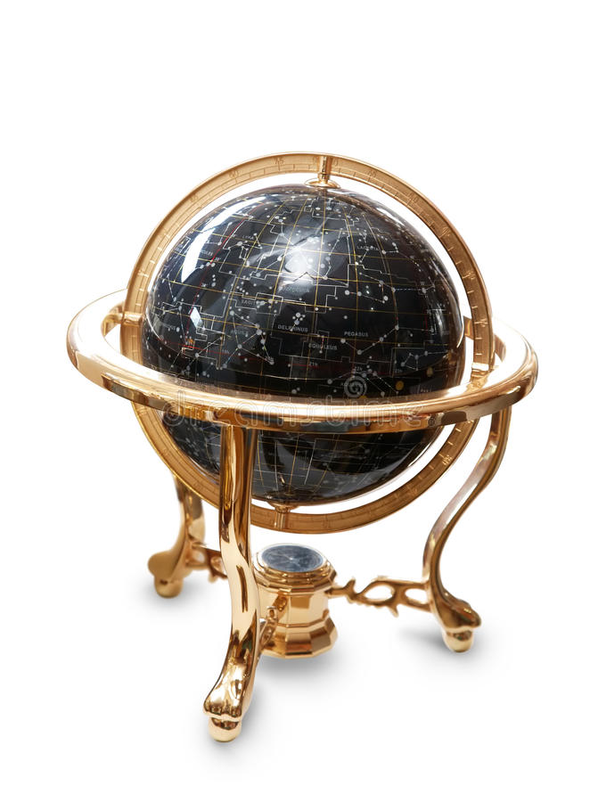 Star Map Globe stock image