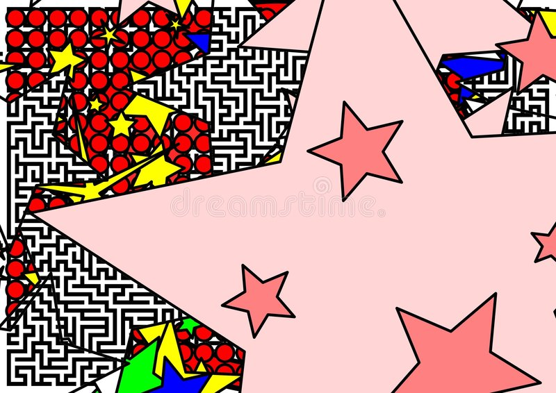 Star maze and dots vector illustration