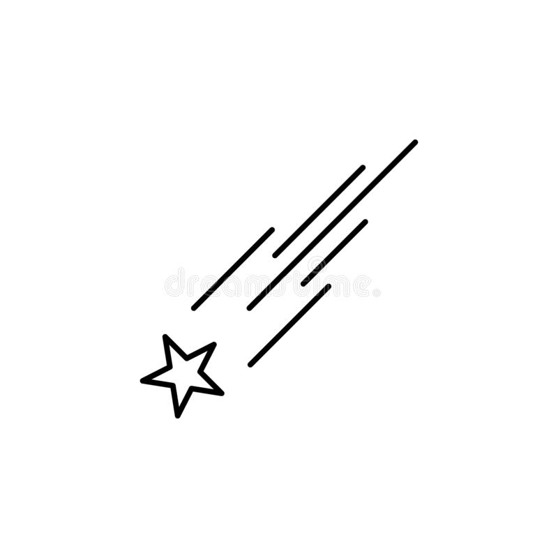 star, meteor icon. Simple thin line, outline  of space, cosmos, universe icons for UI and UX, website or mobile application royalty free illustration