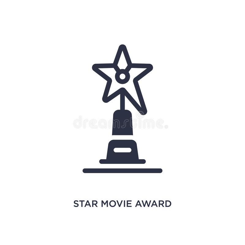 Star movie award icon on white background. Simple element illustration from cinema concept. Star movie award icon. Simple element illustration from cinema royalty free illustration
