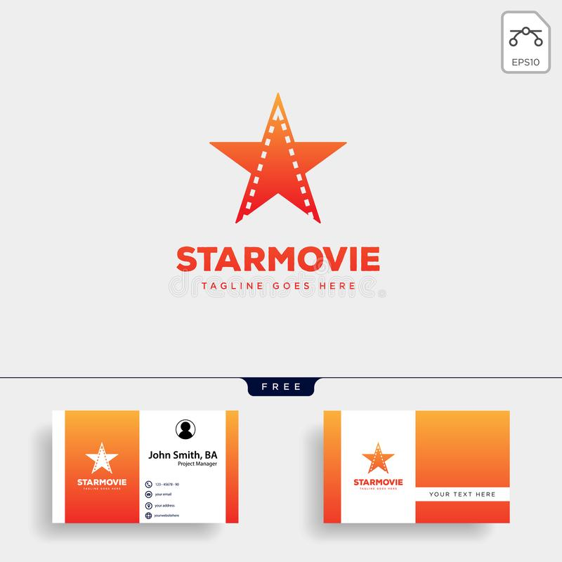 star movie cinema simple logo template vector illustration icon element isolated vector illustration