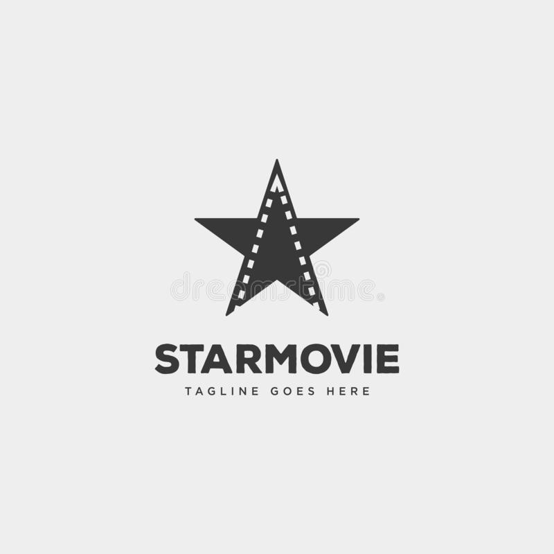 Star movie cinema simple logo template vector illustration icon element isolated. Vector file stock illustration
