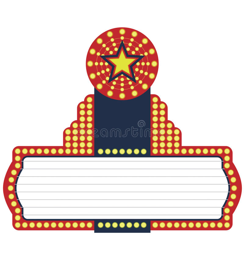 star movie marquee stock vector illustration of vintage 12359549 rh dreamstime com movie marquee clipart black and white movie theater marquee clipart