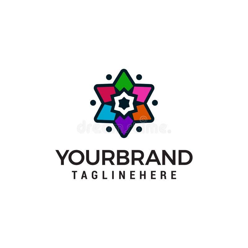 Star multicolor logo design concept template royalty free illustration