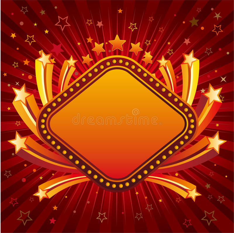 Download Star with neon sign border stock vector. Illustration of graphic - 16171986