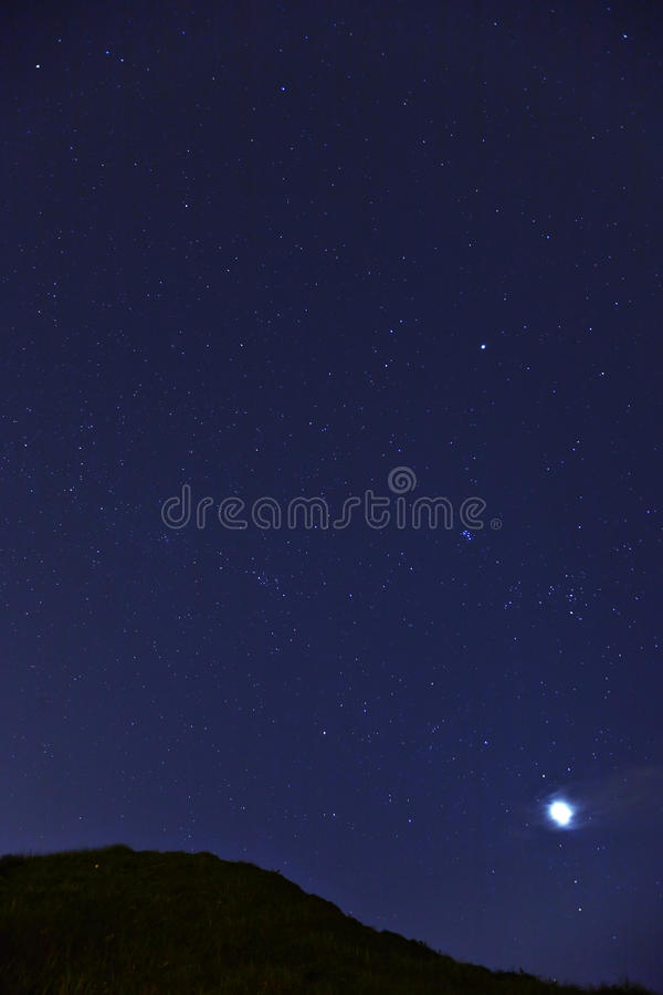 Star at night. Star in sky at night stock photos