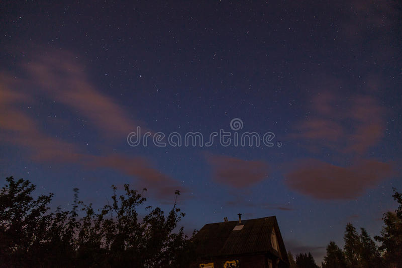 Star night sky royalty free stock images