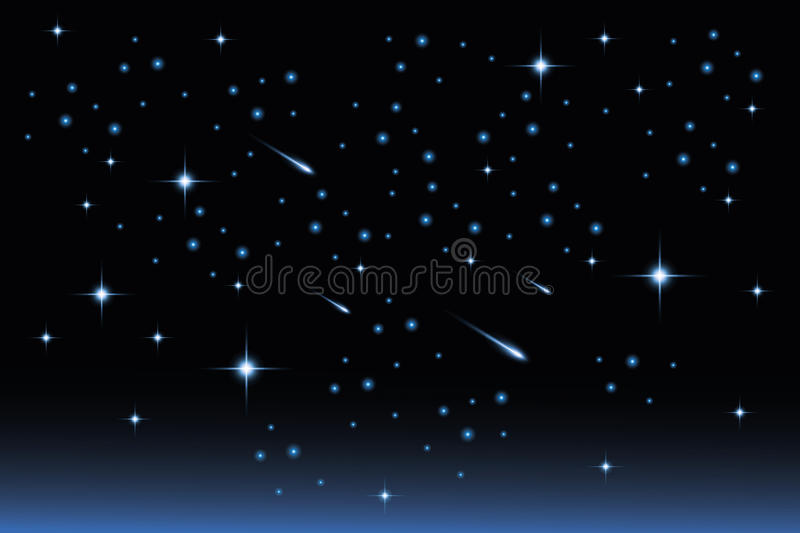 Star night sky - Stock Illustration. Star night sky landscape - illustration vector illustration