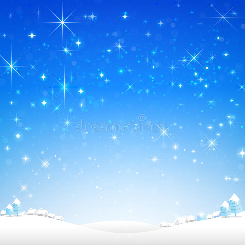 Star night and snow fall bakcground vector illustration 002. Star night and snow fall bakcground vector illustration eps10 stock illustration