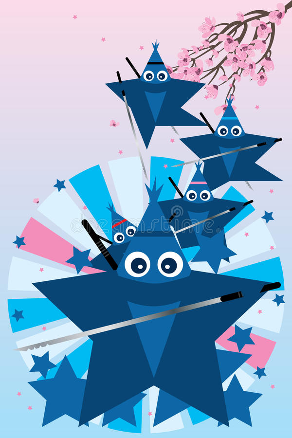 Star ninja cute stock illustration