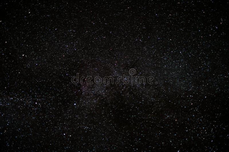 Star o céu na noite, fundo do espaço da Via Látea fotografia de stock royalty free