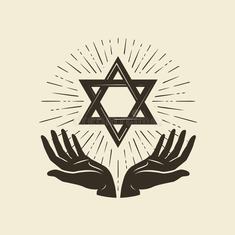 Free Star Of David, Symbol. Israel Or Judaism Emblem. Vector Illustration Royalty Free Stock Photos - 125380878