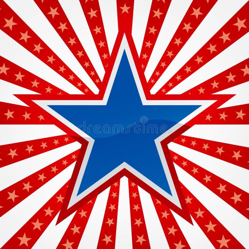Free Star On A Burst Background Stock Photos - 4795023