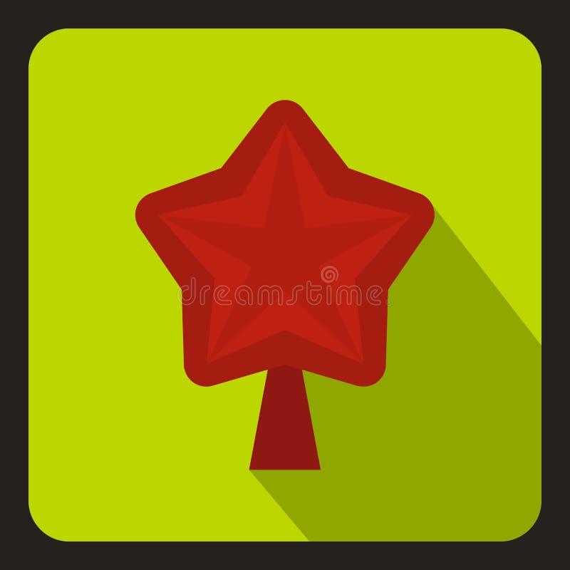 Star para o ícone da árvore de Natal, estilo liso ilustração do vetor