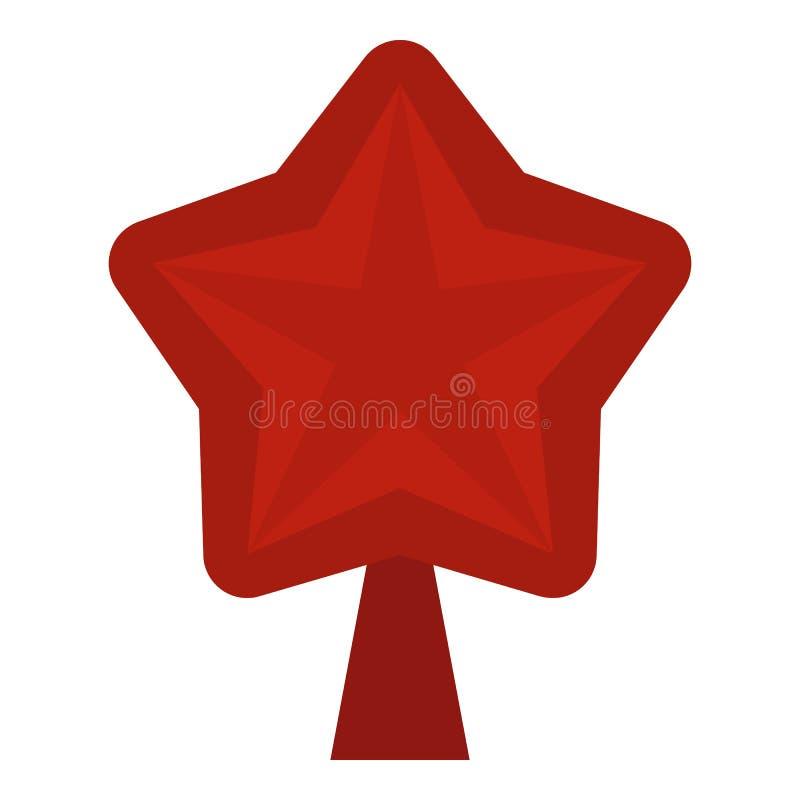Star para o ícone da árvore de Natal, estilo liso ilustração stock