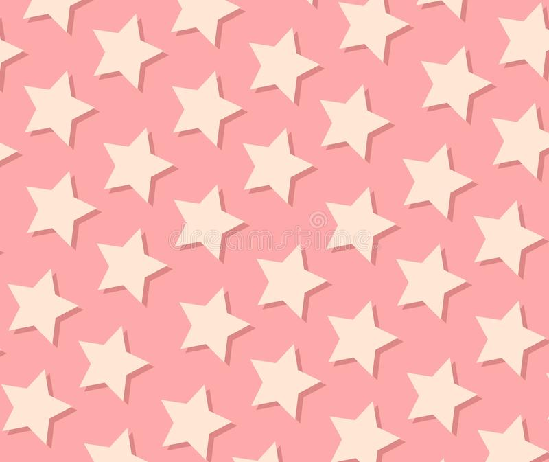 Star pattern. Star seamless background in pink tone vector illustration