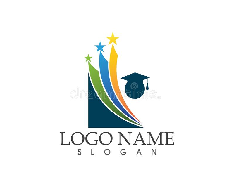 Star people education logo design concept vector illustration