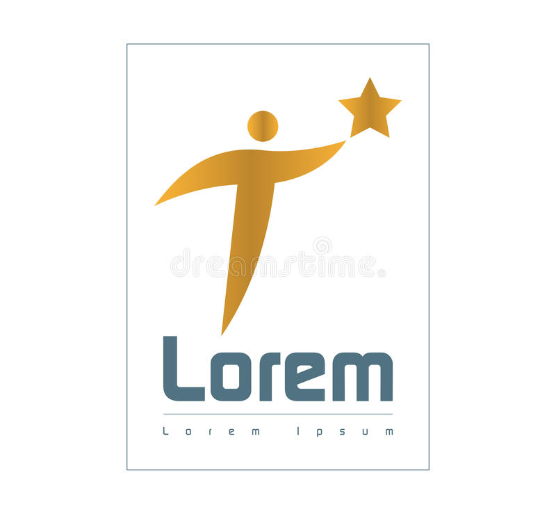 Download Star Person Logo Concept Design Stock Illustration - Image: 83707349