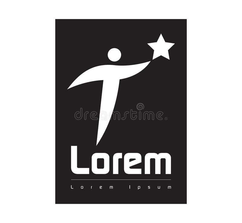 Download Star Person Logo Concept Design Stock Illustration - Image: 83707992