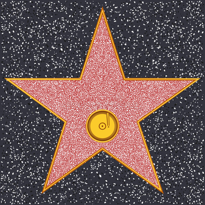 star phonograph record hollywood walk of fame stock