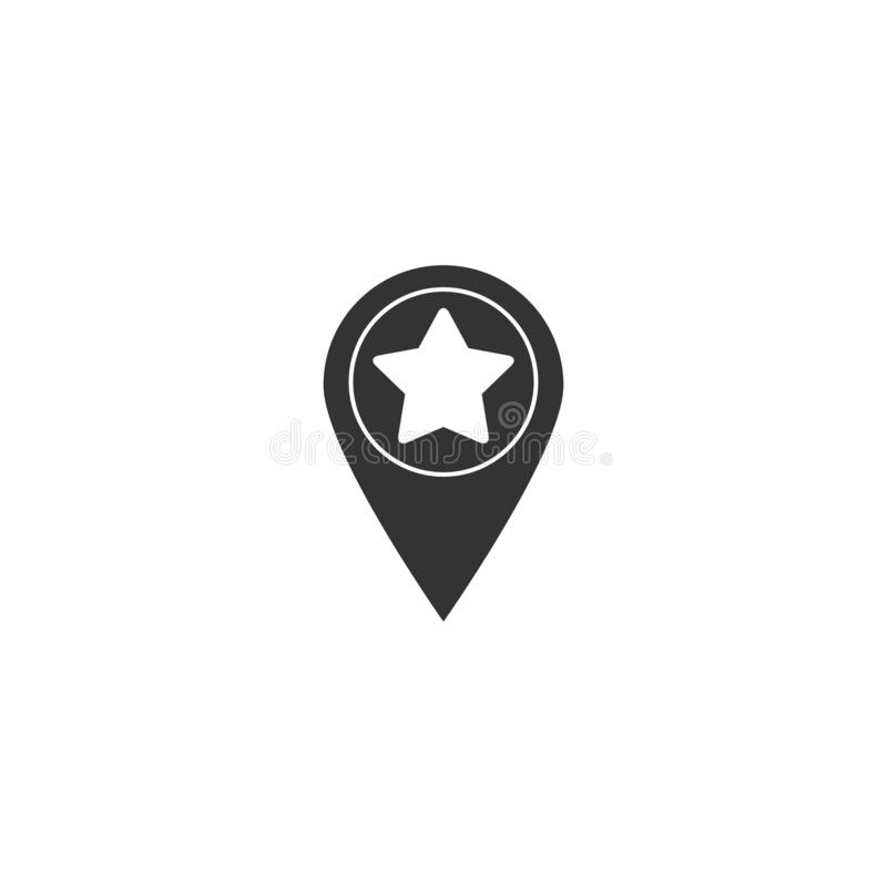 Star pinpoint icon in simple design. Vector illustration royalty free illustration