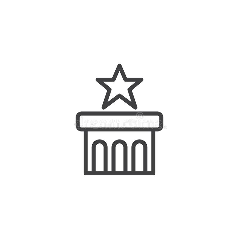 Star on podium outline icon stock vector illustration of perfect download star on podium outline icon stock vector illustration of perfect champion 111915028 sciox Gallery